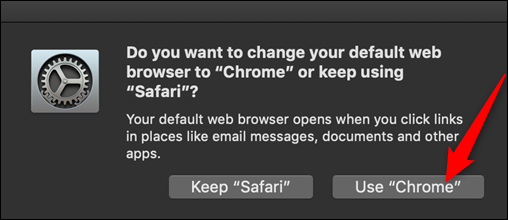 "Click ""Use Chrome."""