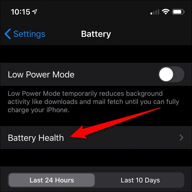 Apple iPhone Click Battery Health