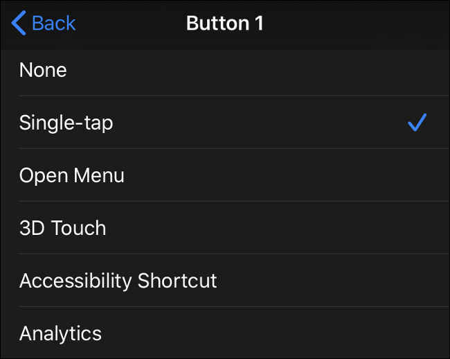 Available Mouse Button Inputs in iOS 13 (iPadOS 13)