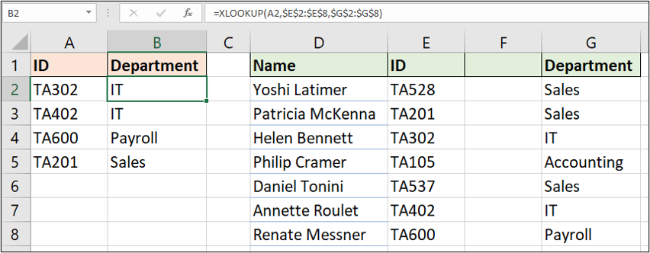 Inserted column does not break XLOOKUP