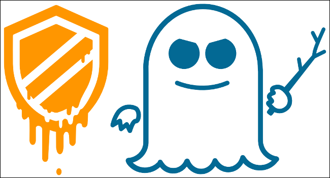 The Meltdown and Spectre logos.