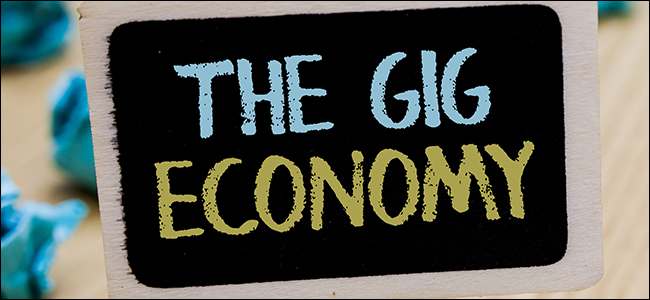 "A poster showing the phrase ""The Gig Economy"""
