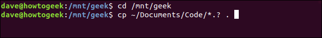cp ~/Documents/Code/*.? . in a terminal window