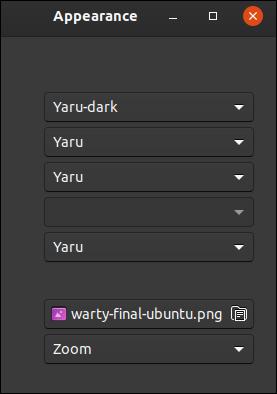 Dark theme selected in GNOME Tweaks