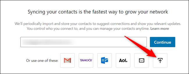 """Click the """"Upload a file"""" icon."""