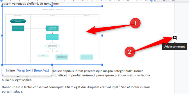Select a portion of the document and click on the Add Comment icon on the right of the page.