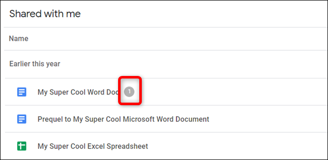 Files that have tasks awaiting you will show a number (how many tasks) beside the name of the document.