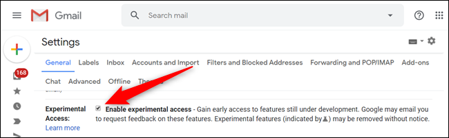 """Head to Settings > General and scroll down until you see """"Experimental Access."""" Click on the checkbox to enable experimental features when they become available."""