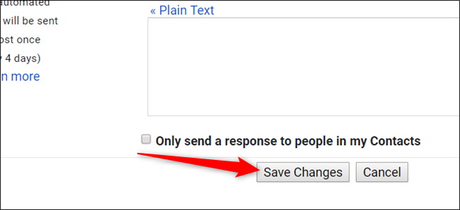 "Scroll to the bottom and click ""Save Changes."""
