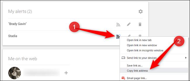 """Haga clic con el botón derecho en el icono y seleccione """"Copiar dirección de enlace"""" para copiar el enlace al portapapeles."""