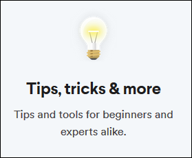 "The ""Tips, Tricks, & More"" tutorial title page from Slack's help pages."
