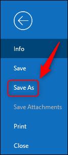 """The """"Save As"""" menu option."""
