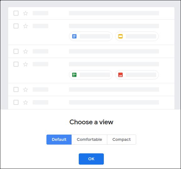 """The """"Choose a View"""" menu in Gmail."""