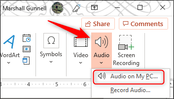 Add audio from PC