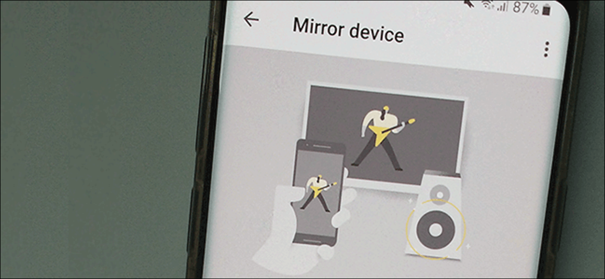 """The Chromecast """"Mirror Device"""" screen on Android."""