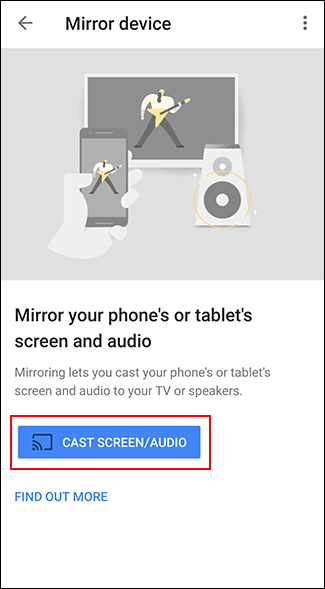 "Tap ""Cast Screen/Audio."""