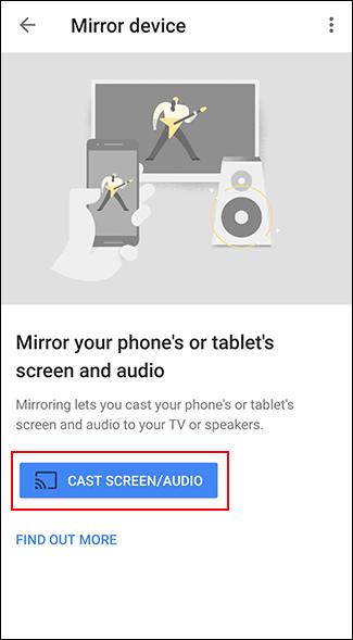 "Tap ""Cast Screen/Audio."""