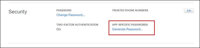 """Click """"Generate Password."""""""