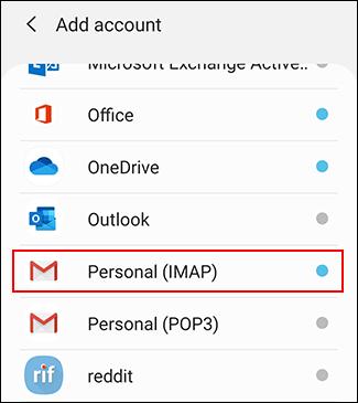 """Tap """"Personal IMAP."""""""