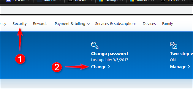 Change Password Microsoft Account Online
