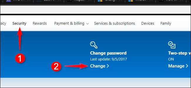 Change Password Microsoft Account Online