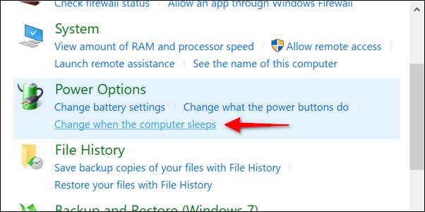 Change When Computer Sleeps