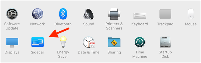 Click on Sidecar from System. Preferences