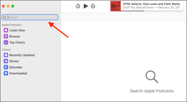 "Click the ""Search"" bar."