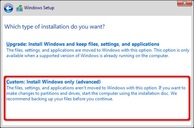 Custom Windows Install