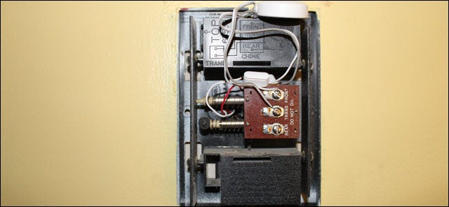 A chime accessory wired into the chime box.