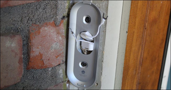 Bridge wiring attached to the Home wiring and tucked into a mounting bracket.