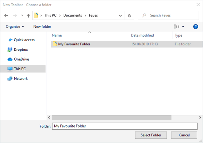 "Click ""Select Folder."""