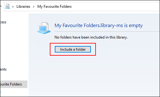 "Click ""Include a Folder."""