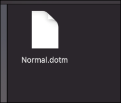 The Normal.dotm file on a Mac.