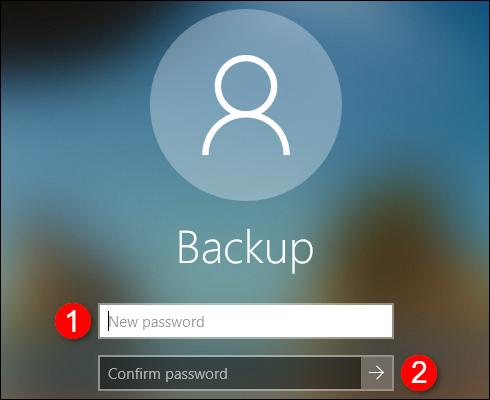 Offline Account Create Confirm Password