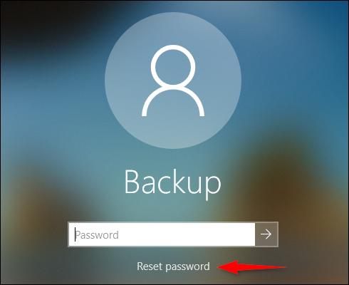 Offline Account Reset Password