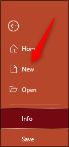 Open a new powerpoint presentation