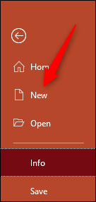 Open a new powerpoint presentation