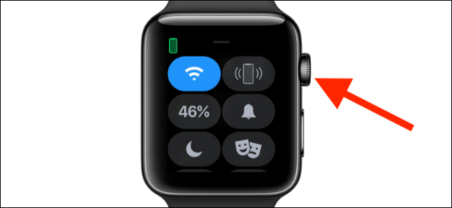 Press the Digital Crown on Apple Watch