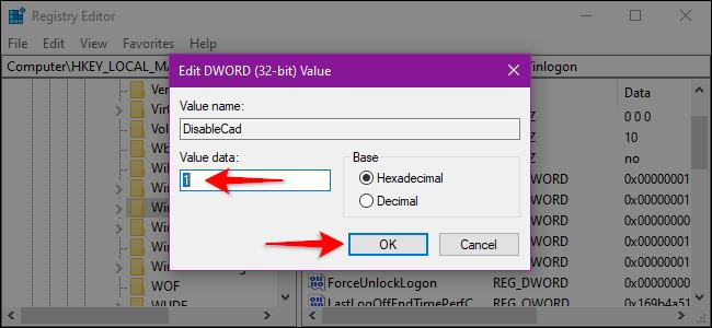 Registry Editor Alter Winlogon Value
