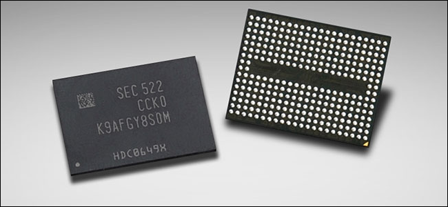 A Samsung 3D NAND flash.