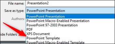 Save as powerpoint template
