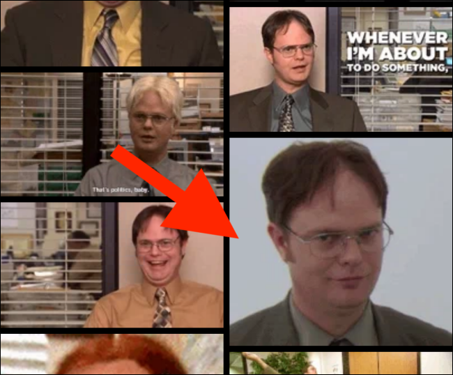 Select a GIF from the list