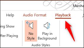 Select playback tab