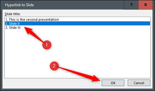Select slide to navigate to