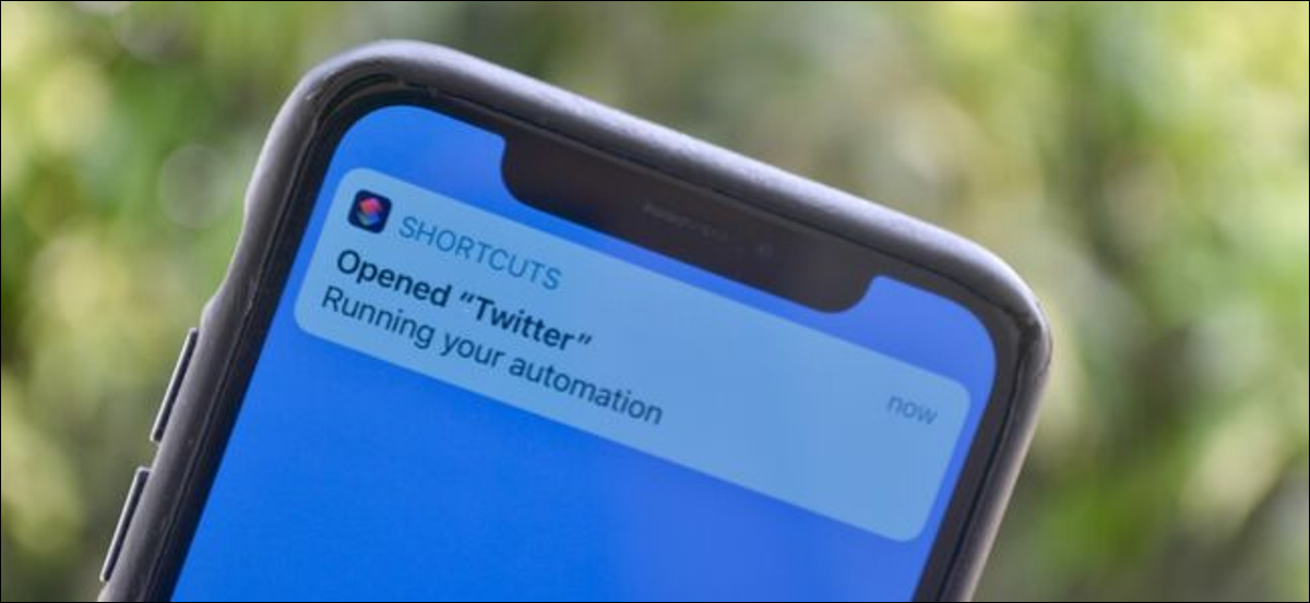 """The """"Running Your Automation"""" shortcuts notification on an iPhone."""