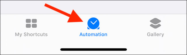Tap on Automations tab from the Shortcuts app