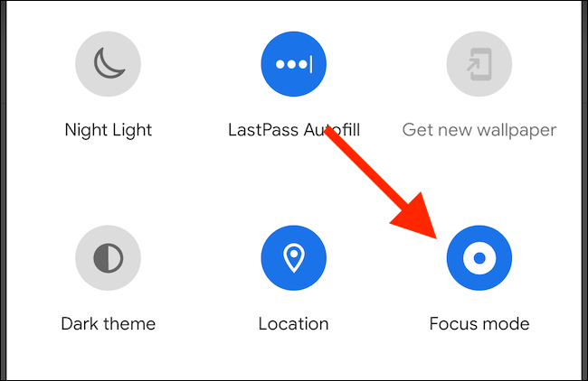 "Tap ""Focus Mode"" to turn it on."