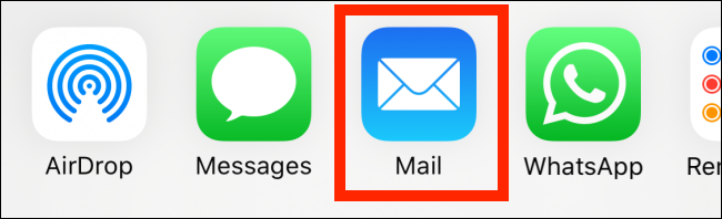 """Tap """"Mail."""""""