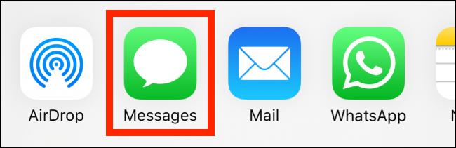 "Tap ""Messages."""
